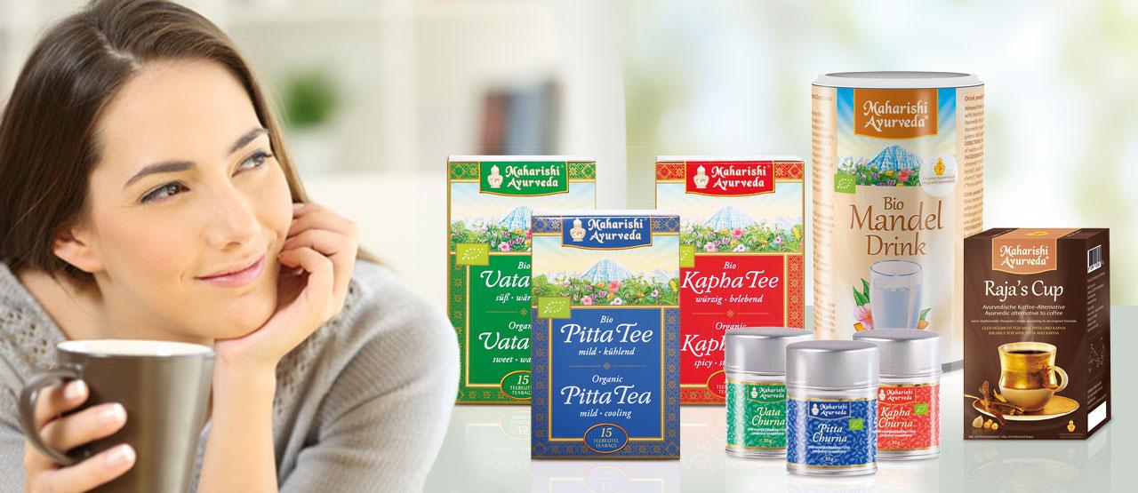 Tees, Getränke, Gewürze, Grundnahrungsmittel