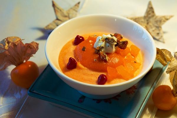 Kürbis-Orangencreme mit Kürbiskrokant