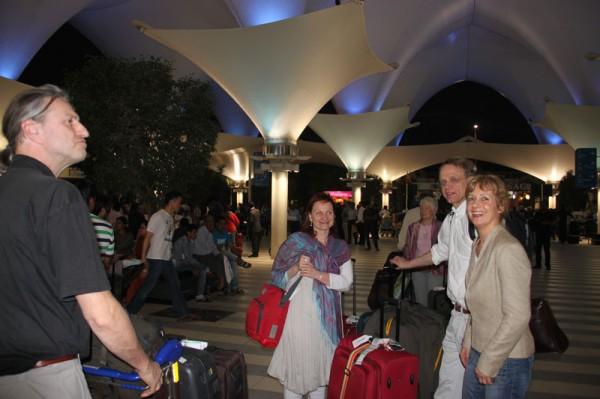 Ankunft am Flughafen Mumbai