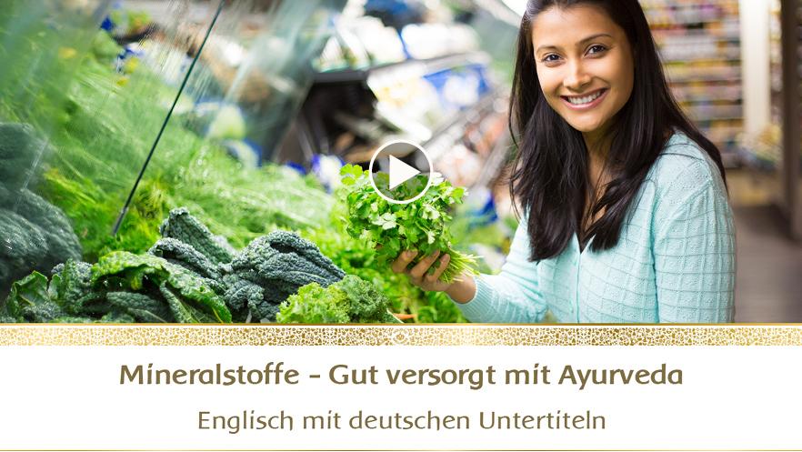 YouTube-Webinar: Mineralstoffe - Gut versorgt mit Ayurveda